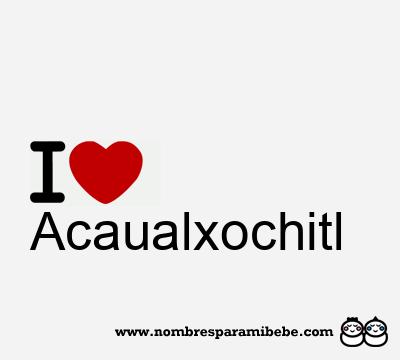 Acaualxochitl