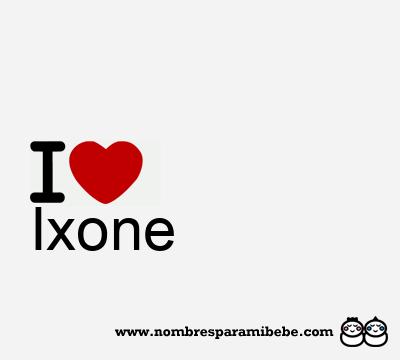 Ixone