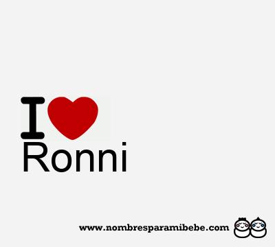 Ronni