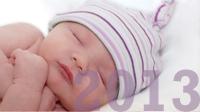nombres de bebé populares en 2013