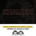 imagen nombre Khaleesi